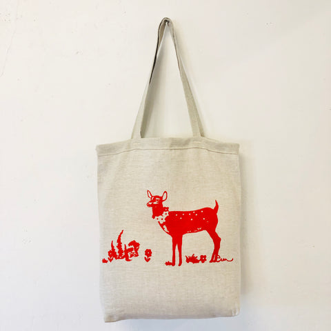 CREW DEER LINEN CARRY ALL BAG