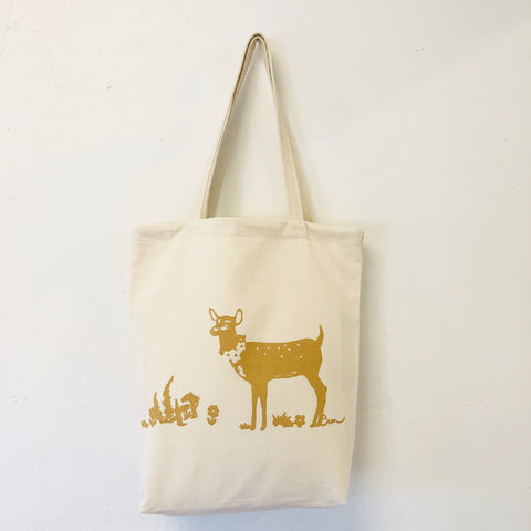 SAND DEER COTTON CARRY ALL BAG