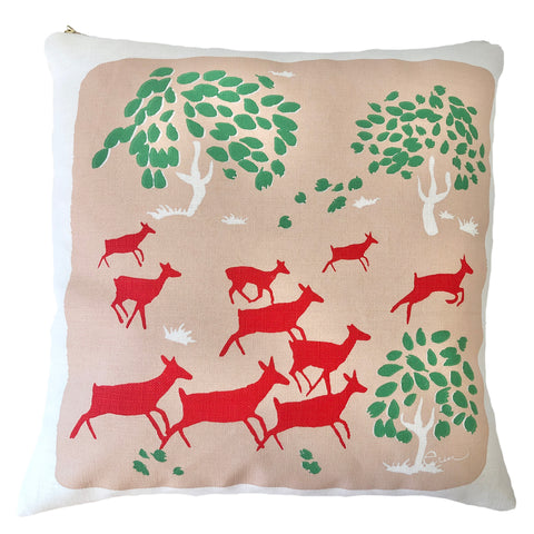 CREW RUNNING DEER PILLOW