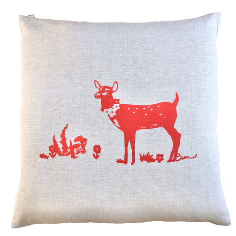 CREW DEER OATMEAL LINEN PILLOW