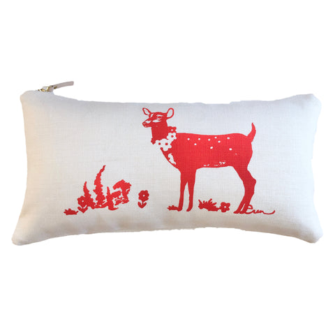 CREW DEER LUMBAR PILLOW