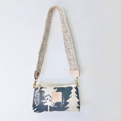 CHARCOAL ASHLEY PINE JEN CROSSBODY BAG WITH WIDE STRAP