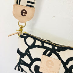 BLACK GEORGE JEN CROSSBODY BAG WITH WIDE STRAP