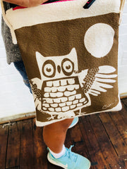 BROWN OWL MINI CROSS BODY BAG