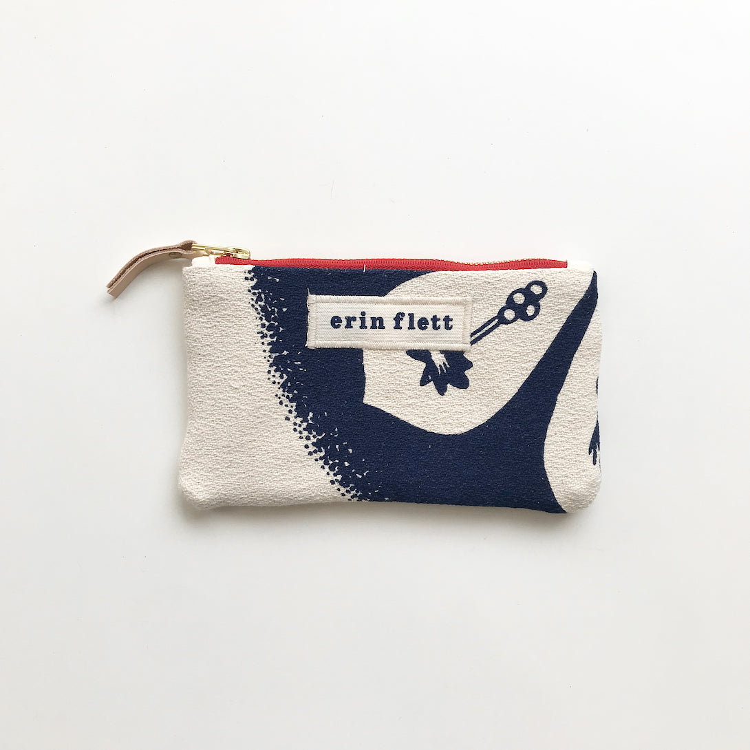 SHIPS NOW! NAVY BLOSSOM CARD WALLET