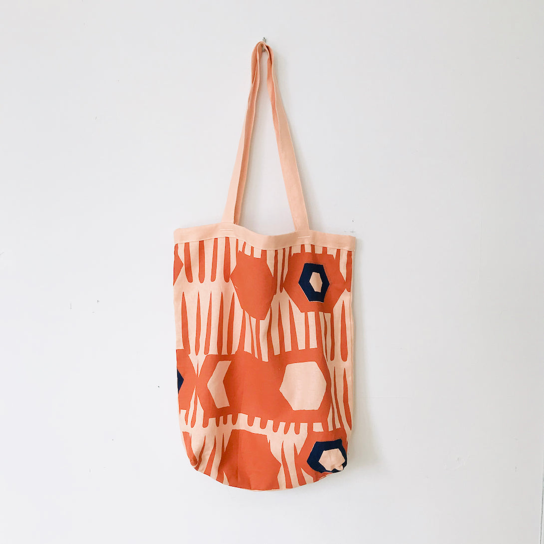 SHIPS NOW! TOMATO HEXAGON CARRY ALL BAG