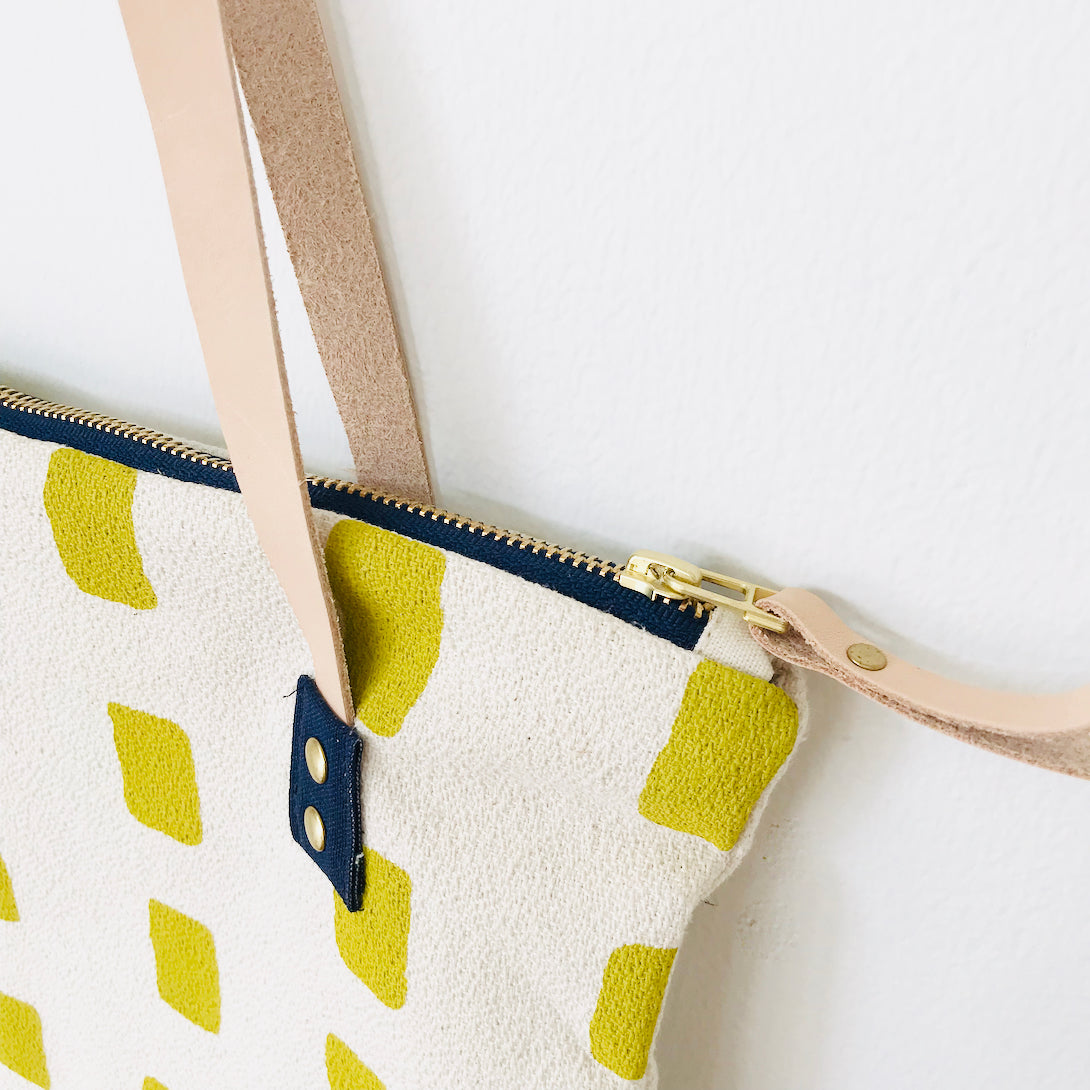 SHIPS NOW! GOLDEN ROD SQUARES MOD TOTE BAG