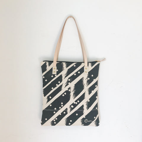 WORN BLACK FLYING CARPET MOD TOTE