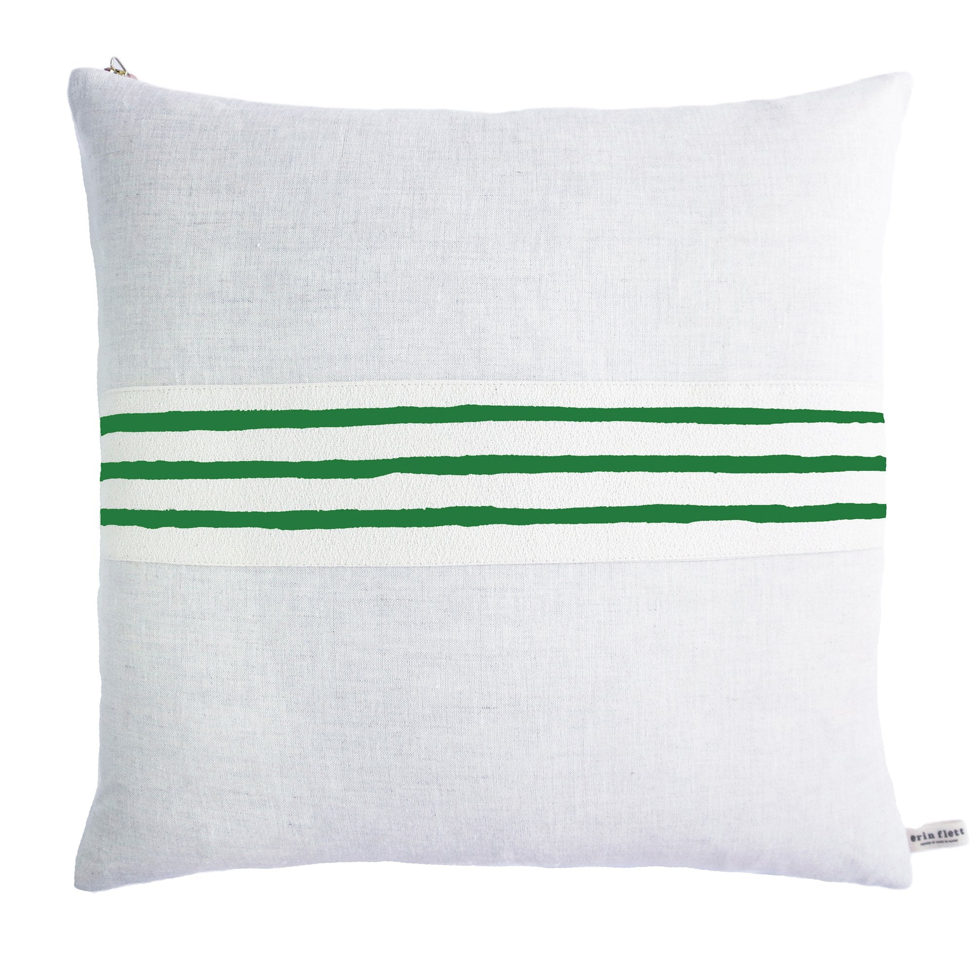 3 LINE KELLY BAND LINEN PILLOW COVER