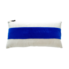 ROYAL VELVET BAND LINEN PILLOW