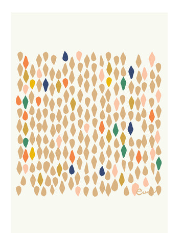 LEAVES GICLEE PAPER ART PRINT