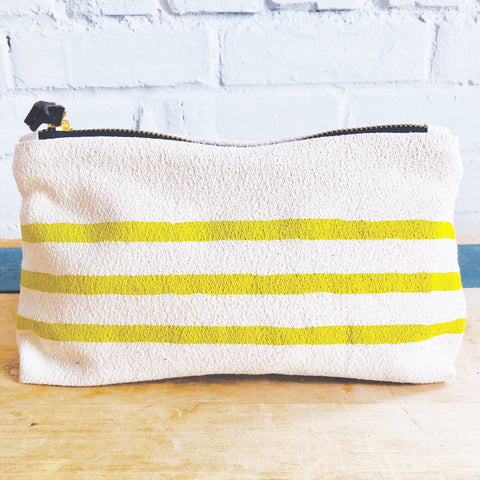 GOLDEN ROD 3 LINES MAKEUP ZIPPER BAG