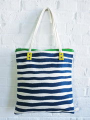 NAVY + KELLY GREEN CASCO MOD TOTE BAG