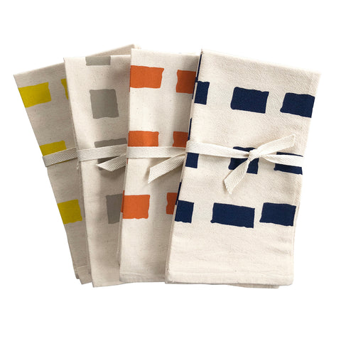 SQUARES COTTON NAPKINS. SET OF 2.