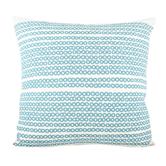 SEA BLUE DECO DOT PILLOW
