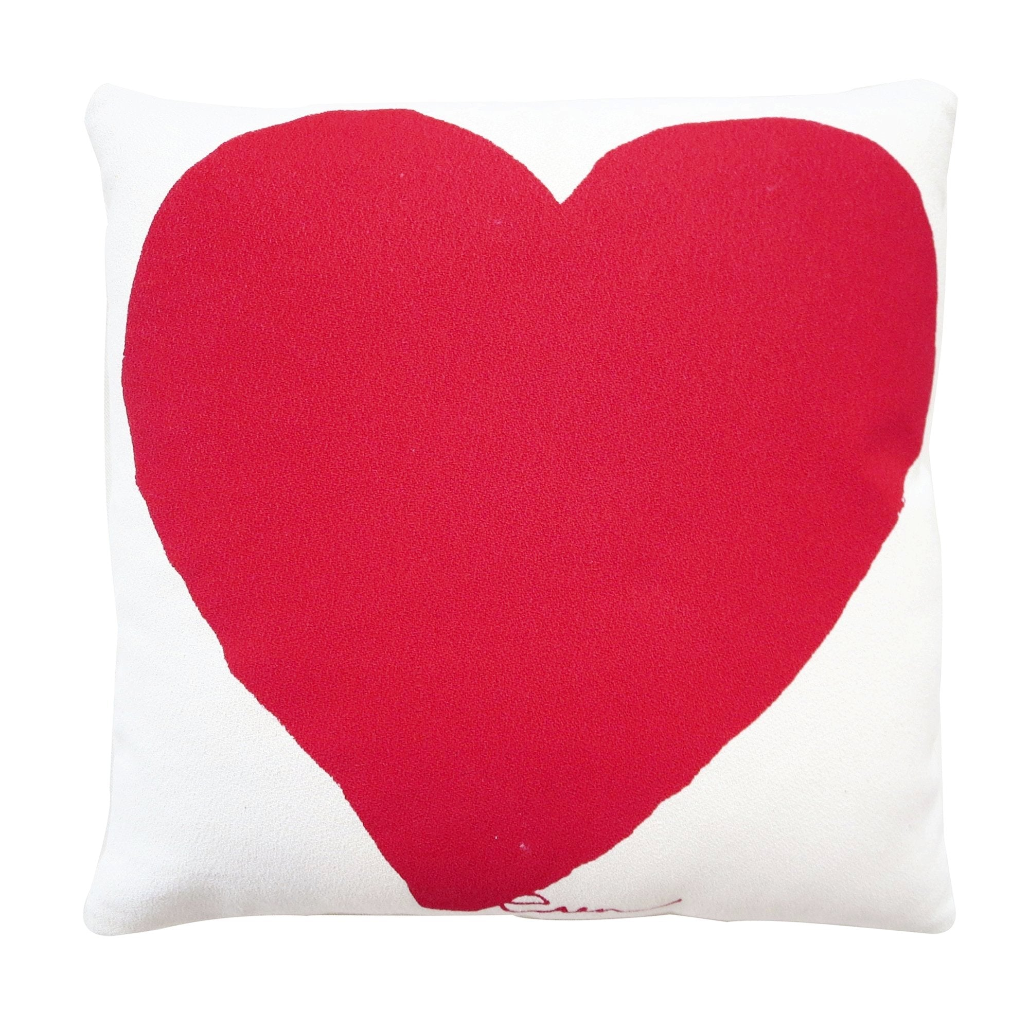 HEART PILLOW COVER IN RED