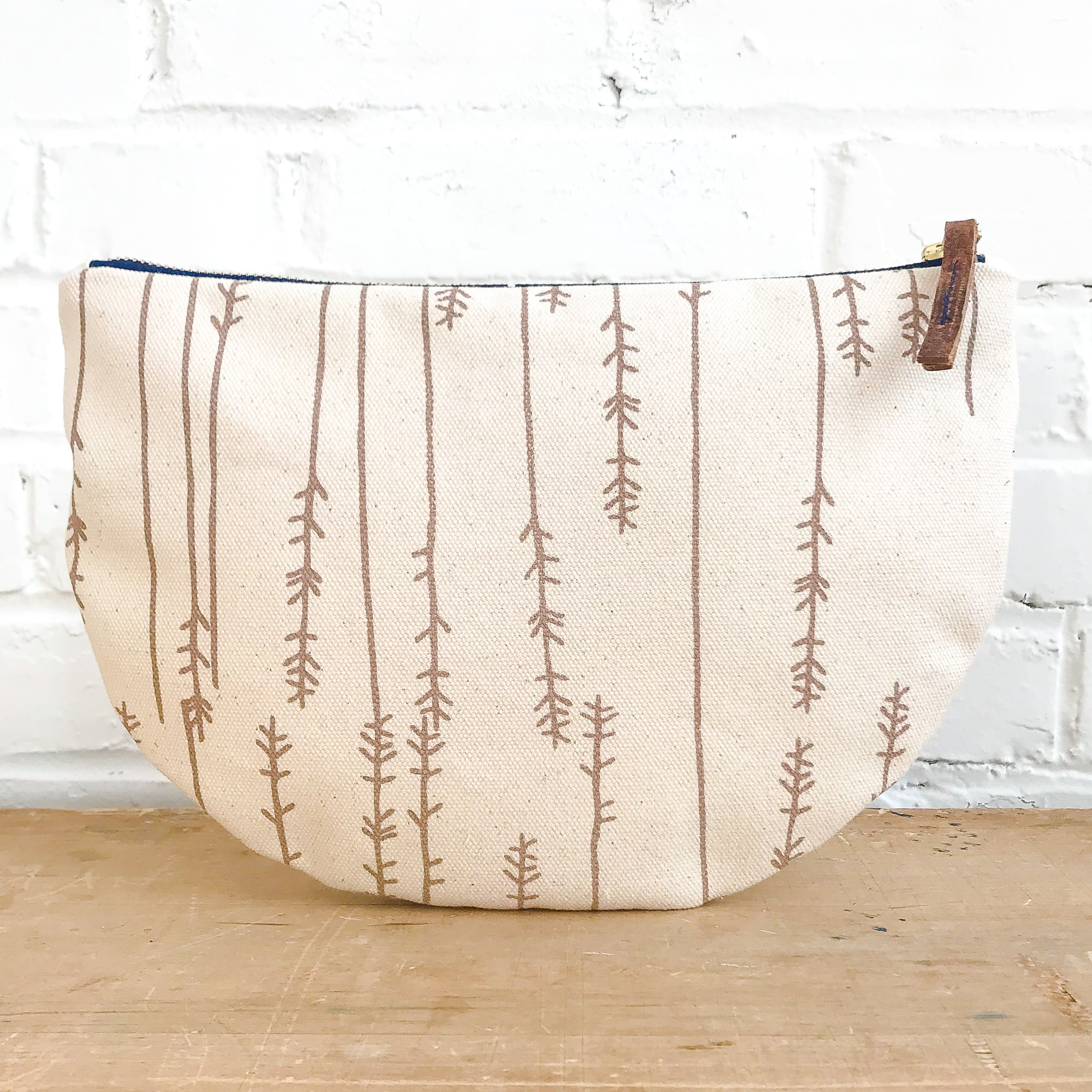 TAUPE TWIGS HALF MOON BAG