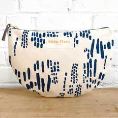 NAVY RAIN HALF MOON BAG