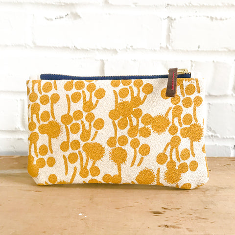 GOLD BERRIES CARD WALLET ZIPPER BAG