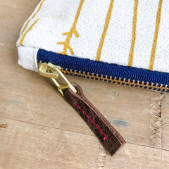 GOLD TWIGS PENCIL ZIPPER BAG