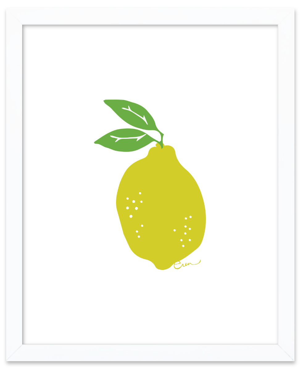 LEMON GICLEE ART PRINT
