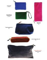 VELVET ZIPPER BAG