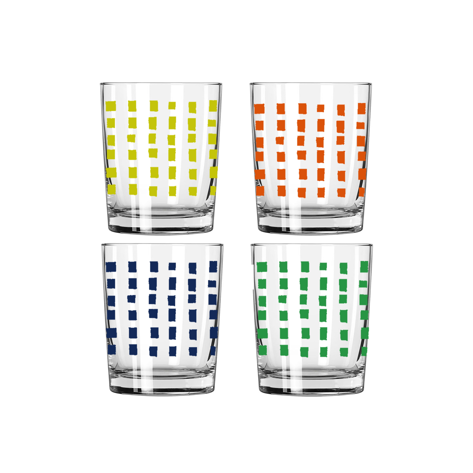 SQUARES COCKTAIL GLASS SET