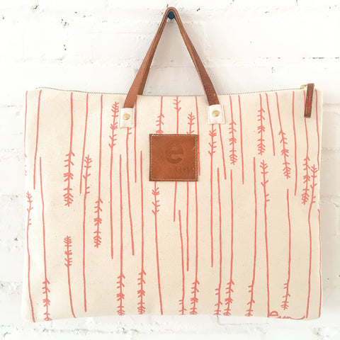 Erin Flett Coral Twigs Folder Bag