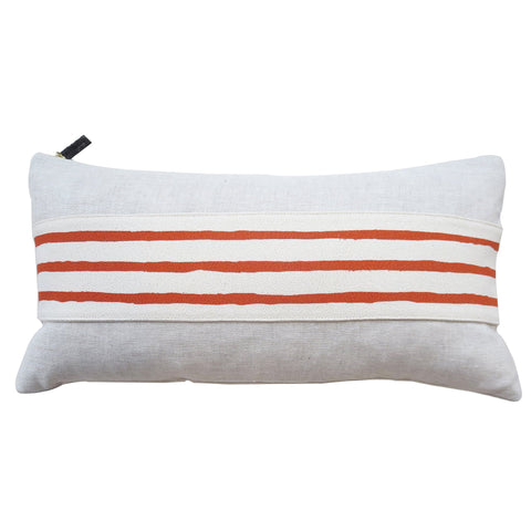 TOMATO 3 LINE BAND LINEN PILLOW