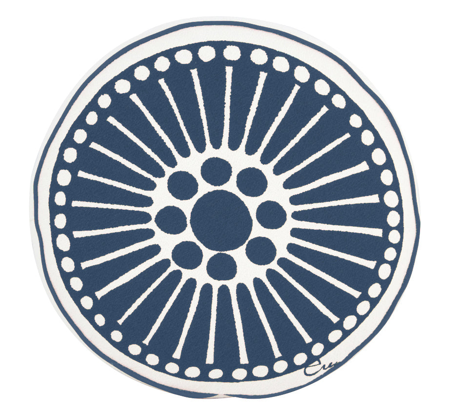 ROUND WINDOW MEDALLION PILLOW