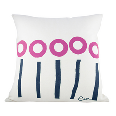 TWO COLOR STEM PILLOW COVER