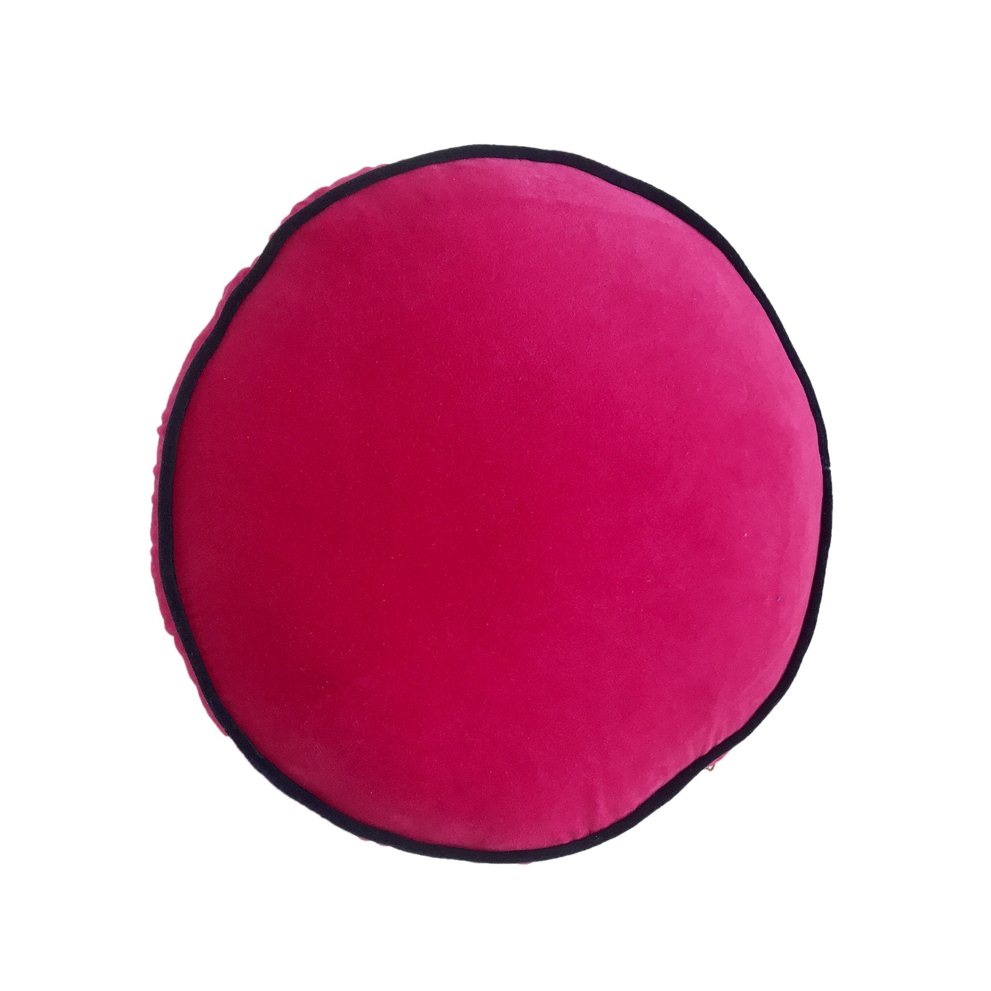 BERRY VELVET ROUND PILLOW