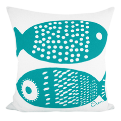 DOUBLE TUNA PILLOW COVER IN SEAFOAM