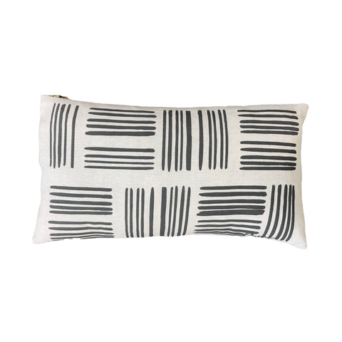 WORN BLACK BRUSH PILLOW