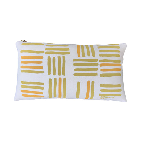 OCHRE GRID PILLOW
