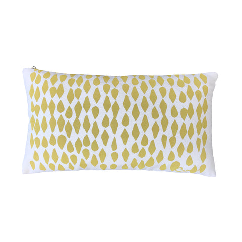 OCHRE LEAVES PILLOW