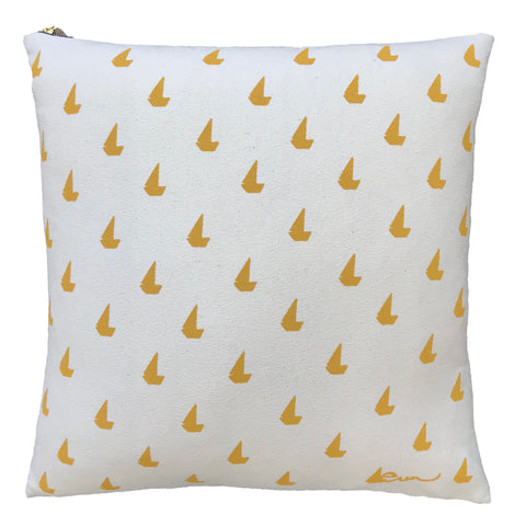 YOLK SAILBOATS PILLOW
