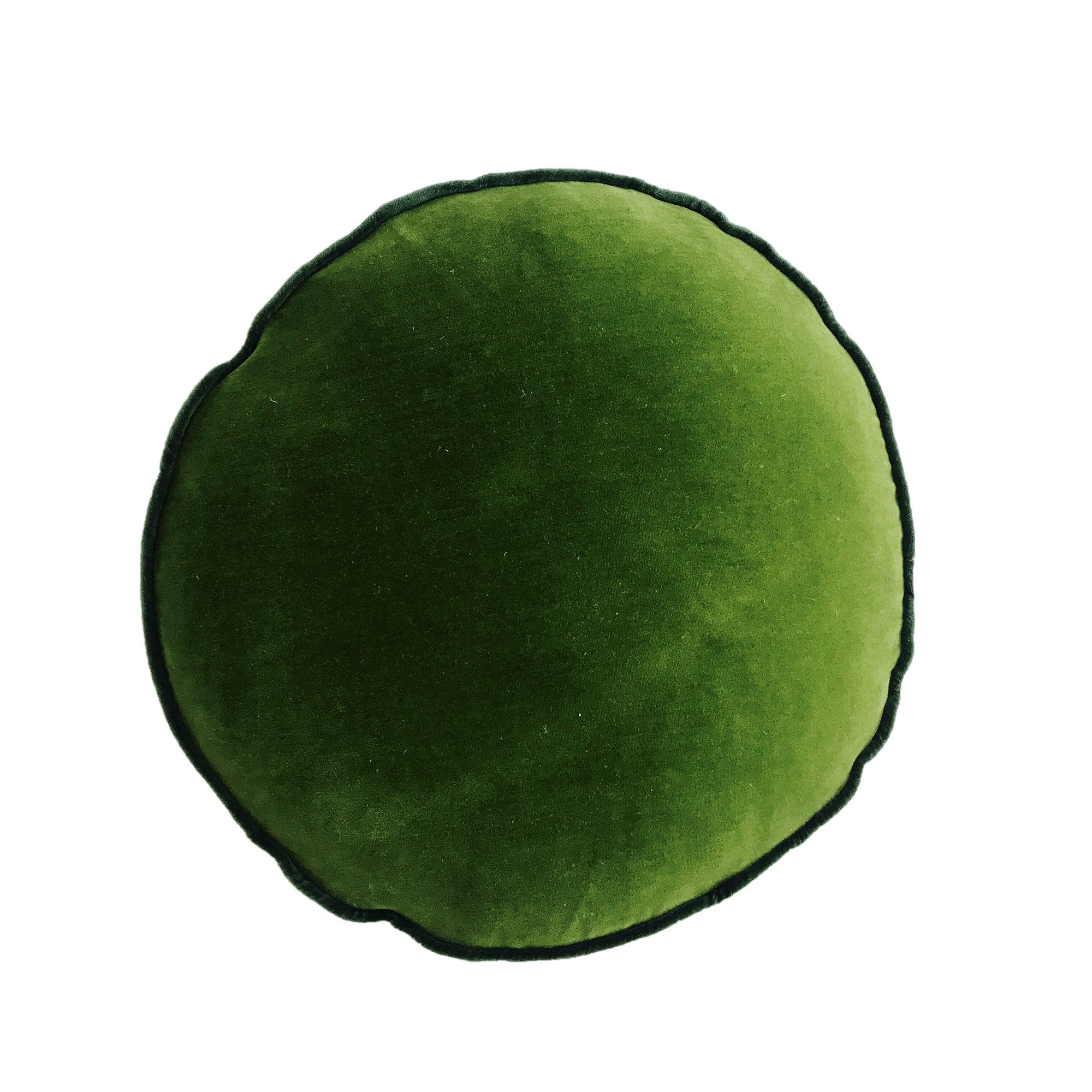 EVERGREEN VELVET ROUND PILLOW
