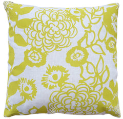 FLORAL GARDEN LINEN PILLOW COVER IN GOLDEN ROD