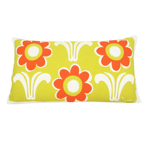 GOLDEN ROD & MANGO DECO DAISY PILLOW
