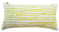 HILARY LINEN PILLOW COVER IN GOLDEN ROD ON OATMEAL