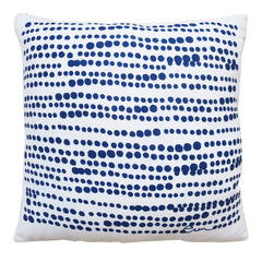 NAVY ON WHITE HILARY LINEN PILLOW