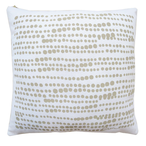 SAND ON WHITE HILARY LINEN PILLOW