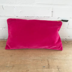 BERRY VELVET ZIPPER BAG
