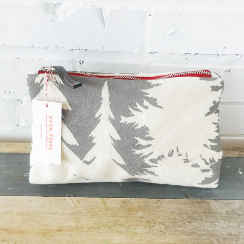 CHARCOAL ASHLEY PINE ZIPPER BAG