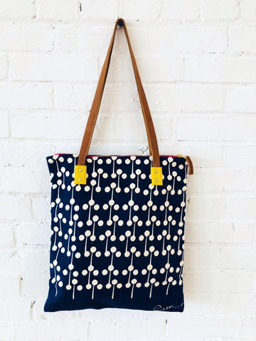 NAVY LOLLIPOP MOD TOTE BAG