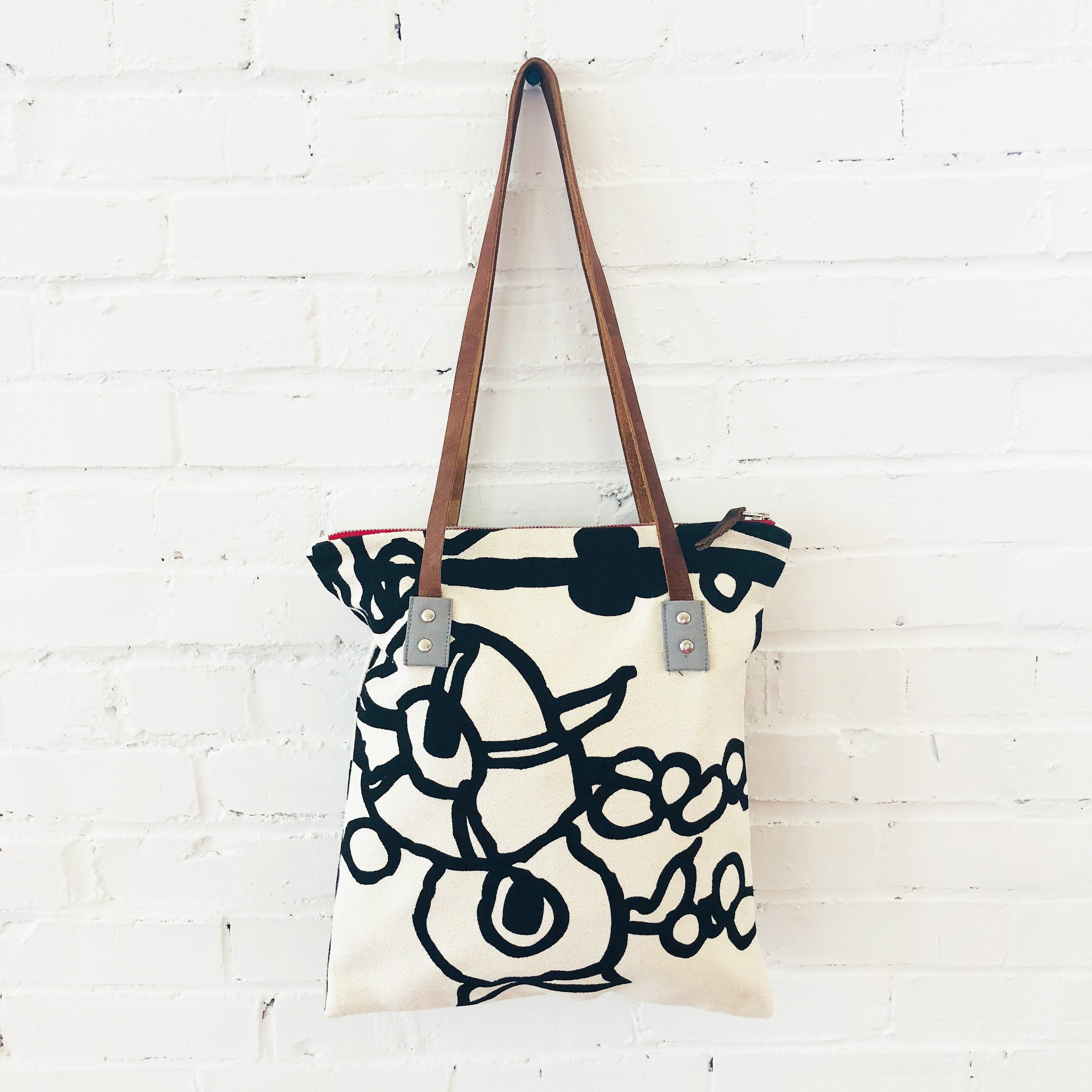 BLACK GEORGE MOD TOTE BAG