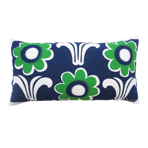 DECO DAISY NAVY & KELLY PILLOW COVER