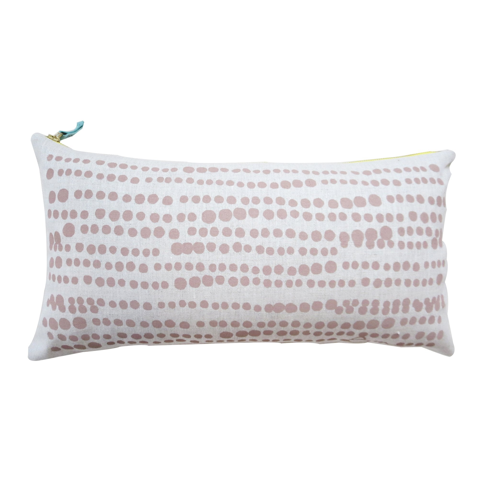 HILARY LINEN PILLOW COVER IN TAUPE BROWN ON OATMEAL