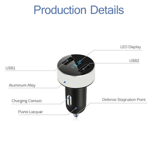 Powstro Dual USB 3.1A Car Charger LED Display